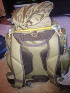 Rear view with bag cover out