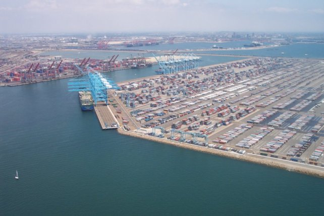 Stock photo of L.A. Harbor