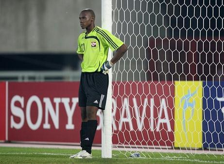 Glenroy Samuel, portiere dei giovani Soca Warriors, è stato trafitto quattro volte nella partita di apertura del mondiale under 20 (socawarriors.net)