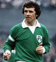 Johnny Giles playing for Ireland