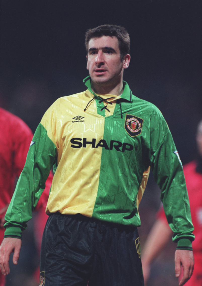 Former man utd forward eric cantona named in premier league hall of fame after fans vote; The History of the Manchester United Home Jersey - Soccer365