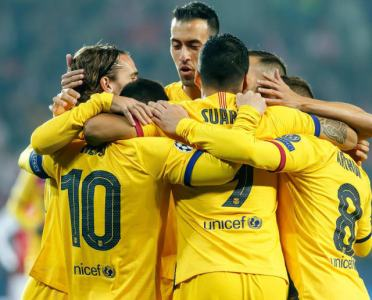 Twitter Reacts as Barcelona Withstand Valiant Slavia Prague to Secure Narrow (Lucky) Win