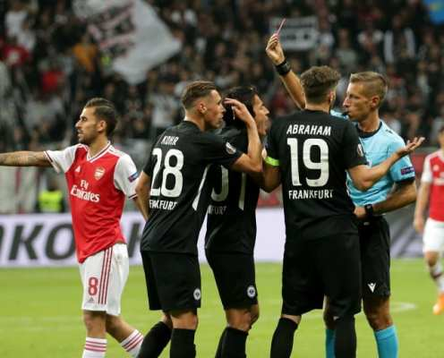 UEFA Uphold Decision to Ban Eintracht Frankfurt Fans From Arsenal Europa League Game