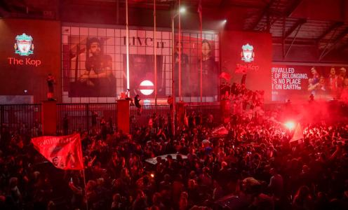Thousands of Liverpool Fans Gather at Anfield to Celebrate Premier League Title
