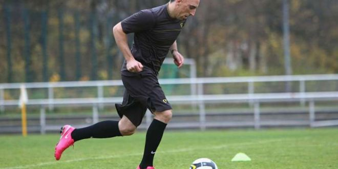 Ribery as the Pink Panther