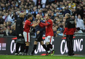 Rooney Carling Cup Final Sub