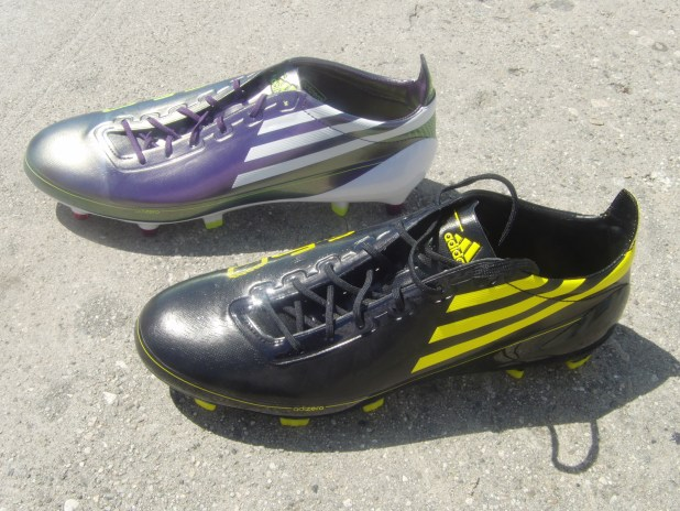 Adizero black and chameleon