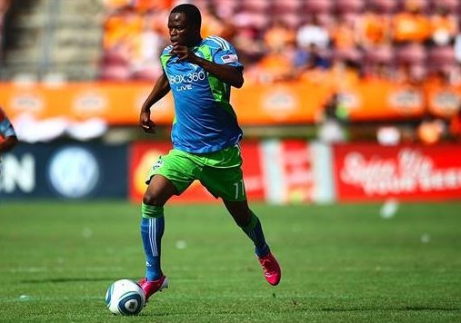 Seattle's Zakuani in Pink adizero