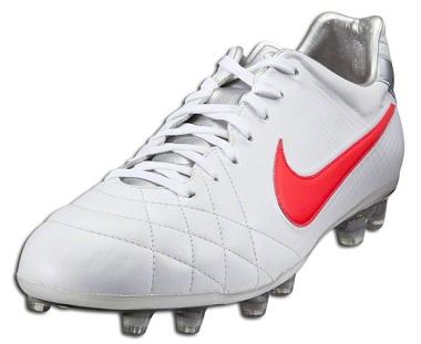 Nike Tiempo White Siren Red