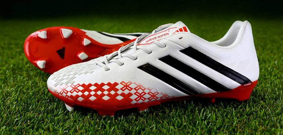Adidas Predator LZ Running WhiteBlackRed | Soccer Cleats 101