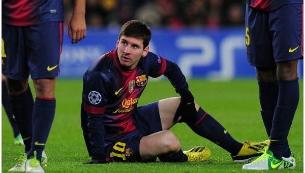 Messi Knee Injury