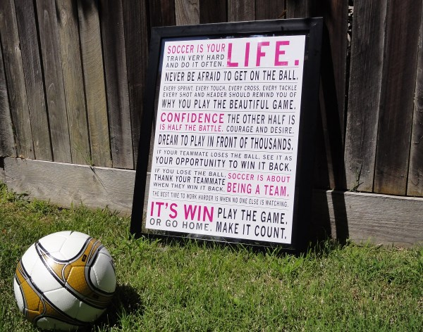Soccer Is Your Life Pink