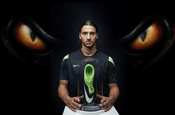 Zlatan in new Hypervenom