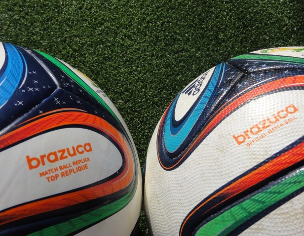 Brazuca Match Ball versus Replica