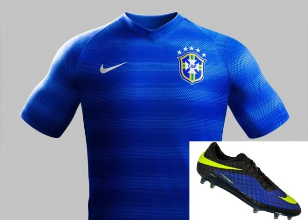 hypervenom phantom hyper blue with brazil away kit