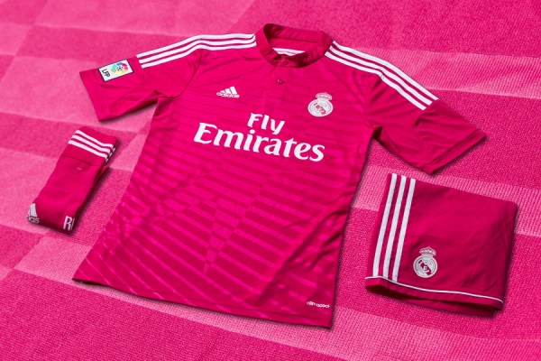 Real Madrid Pink Away Jersey