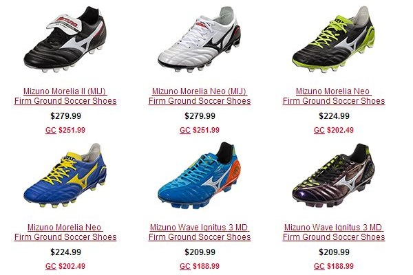 Mizuno Boots Available