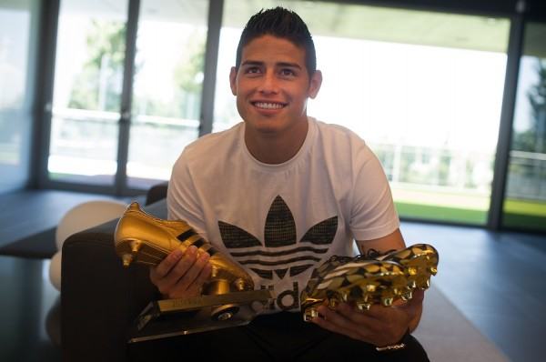 James Rodriguez Gets His Golden Boot With Golden Boots