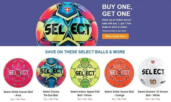 SELECT Soccer Ball Deal - Buy One 4efbd2350