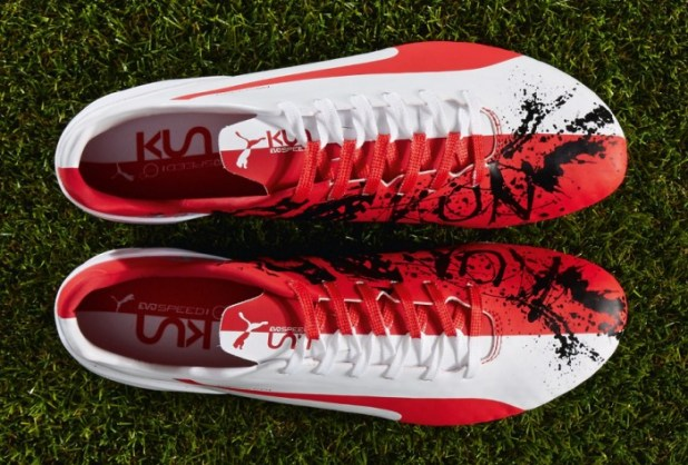 Puma evoSPEED 1.3 Kun - Aguero Gets Custom Boots  51f2fb35be5c