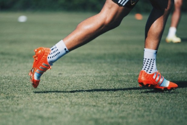 Omar Gonzalez training in Adidas Nitrocharge