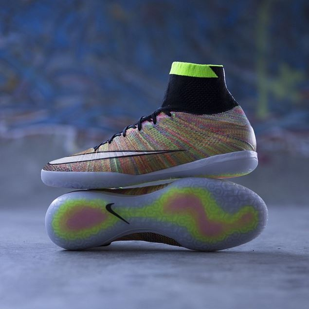 c6dbb0d7d3b1 Nike MercurialX Proximo Featuring Woven Multicolor Flyknit ...
