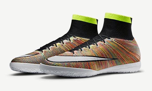 498a83c1c Nike MercurialX Proximo Featuring Woven Multicolor Flyknit