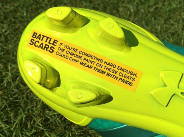 UA Speedform Soleplate Warning