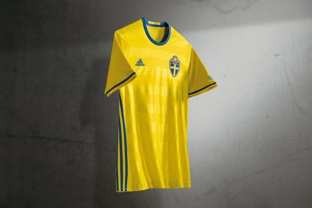 Sweden Euro 2016 Home Kit