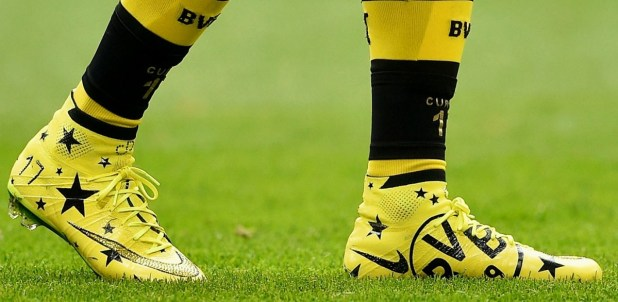 Aubeyamang Weating Custom BVB Nike Superfly