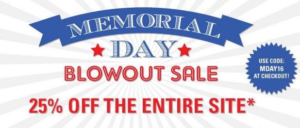 Memorial Sale 2016