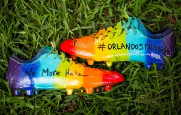 Custom Brek Shea LGBT Pride Boots
