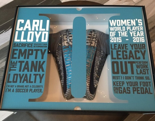 Carli Lloyd Ballon d'Or Boots