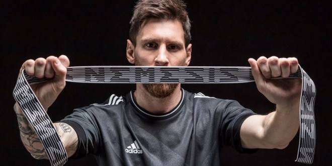 Messi with adidas Nemeziz