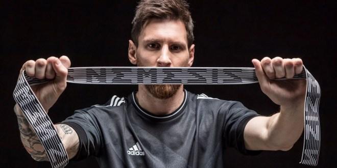 Messi with adidas Nemeziz