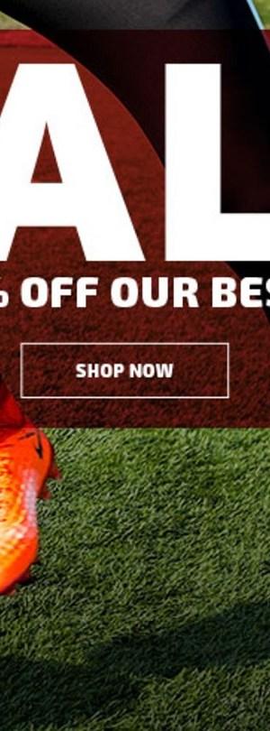 Summer Cleat Sale. Shop SOCCER.COM!