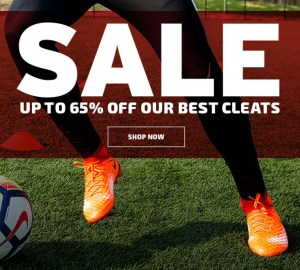 Summer Cleat Sale. Shop SOCCER.COM!