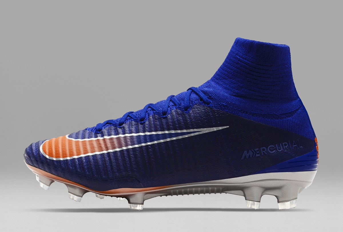 a99877f2bb08 The Swoosh has a multi-color orange to blue fade with a platinum-hued  outline. Nike Mercurial Superfly Lieke Martens