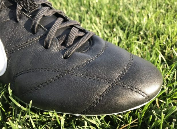 Nike Premier 2 Leather Upper Up Close