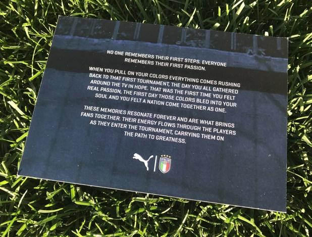 Puma Italy Jersey Message