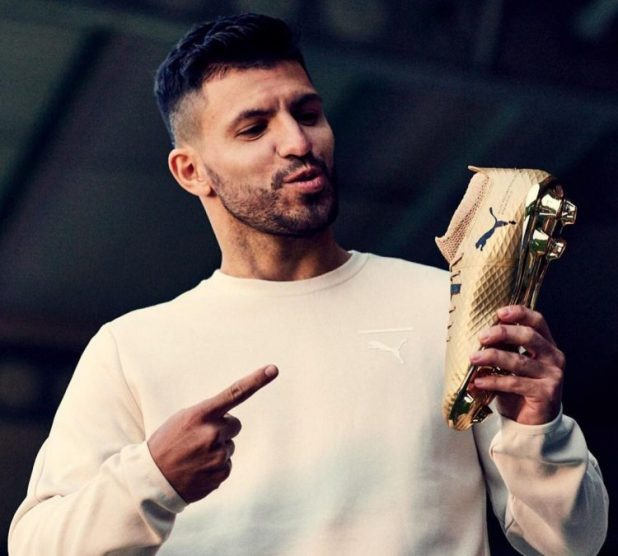 Aguero With Puma ONE Gold