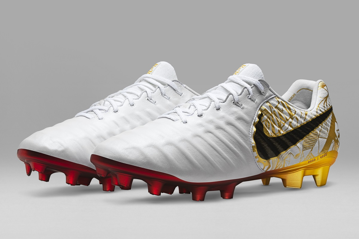In recognition of his many achievements, Sergio Ramos joins the likes of  Ronaldinho, Totti and Pirlo in receiving his own limited edition Nike  Tiempo boots.