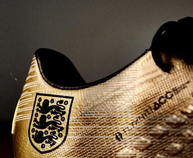 Harry Kane Custom Gold Boots