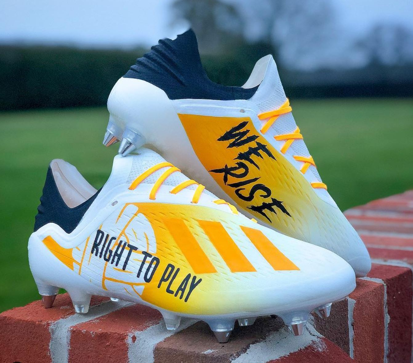 """371c05d018ce The post Nathan Redmond Wears Custom """"Right To Play"""" X18.1 appeared first  on Soccer Cleats 101."""
