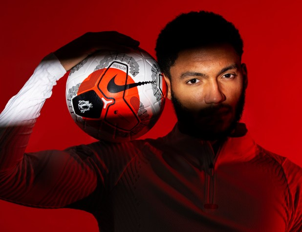 Joe Gomez with Nike Merlin Ball