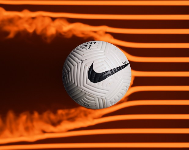 Nike Flight Soccer Ball In Action