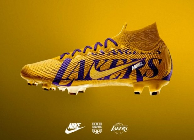 LA Lakers Soccer Cleat