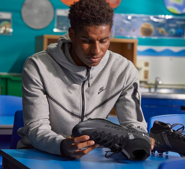 Marcus Rashford with Special Edition Blackout Superfly