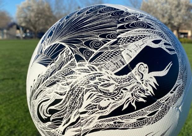 Chaos Soccer Ball Dragon Design