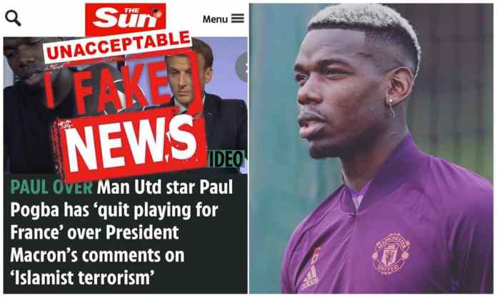 Pogba debunks rumour that he's quiting Frances. National Team